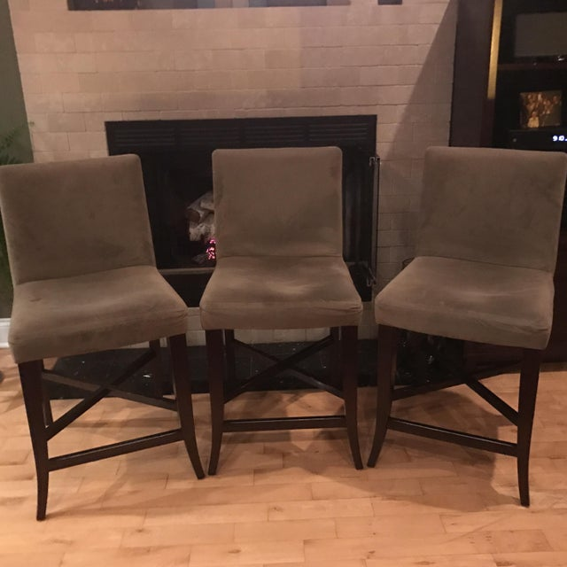 Image of Crate & Barrel Parsons Barstools - Set of 3