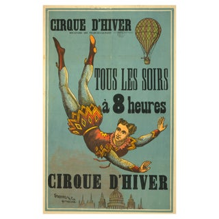 Winter Circus- Print of 1800s French Circus Poster