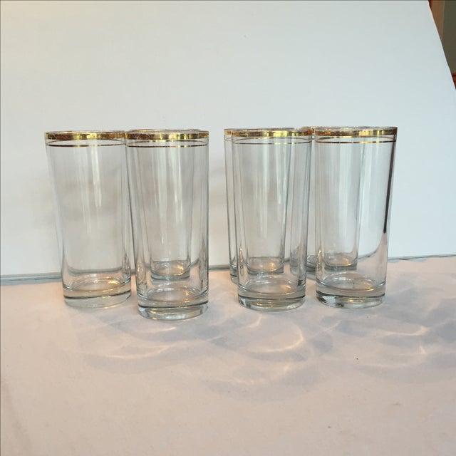 Gold Trimmed Glasses - Set of 7 - Image 6 of 10