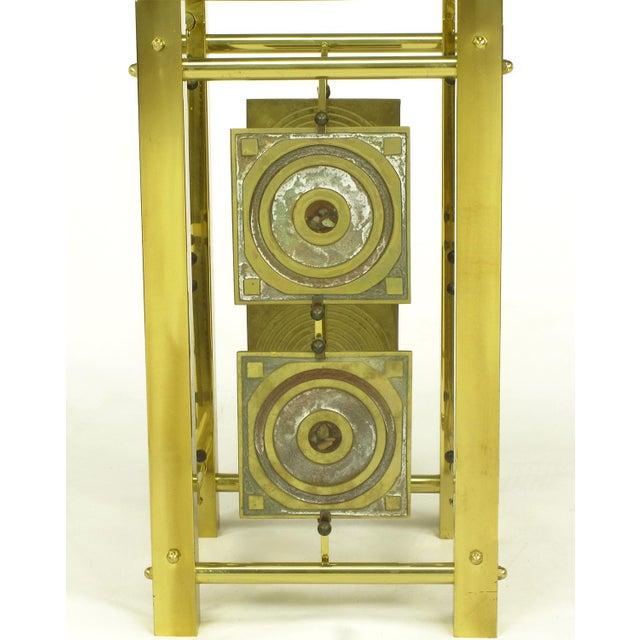 Postmodern Enameled Brass Panel Studio Side Table - Image 6 of 10