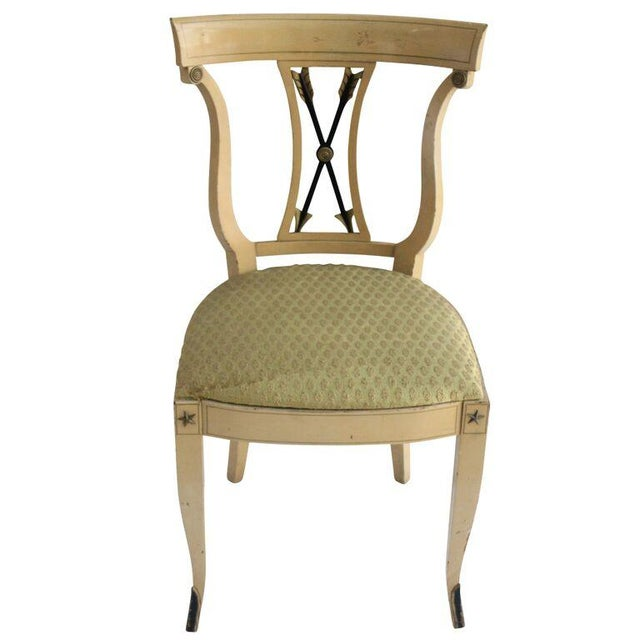 Arrow Back Cream Frame Vanity Chair Chairish