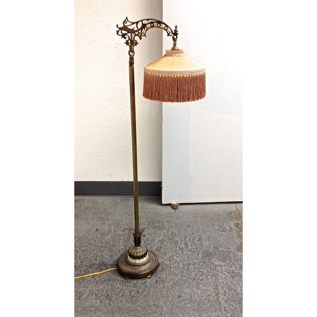 Antique 1930 39 s bronze floor lamp chairish for 1930s floor lamp
