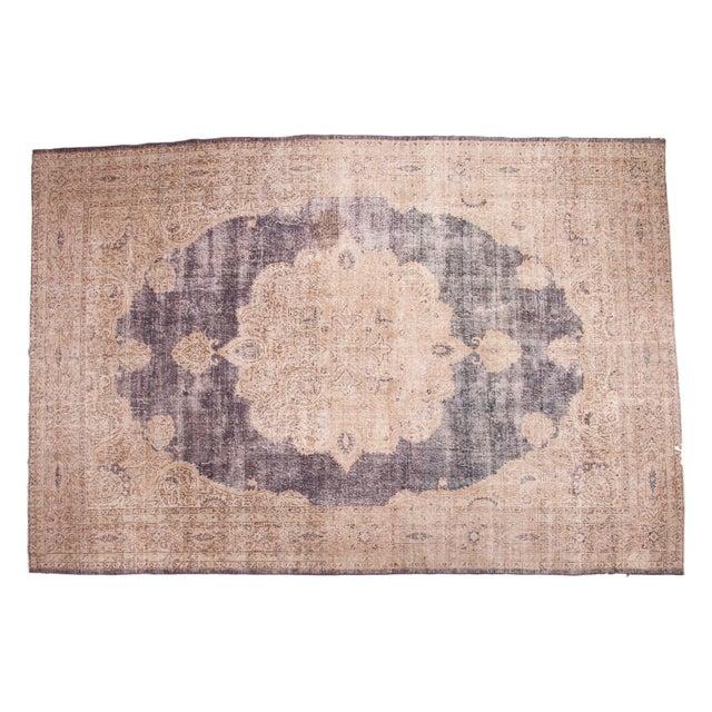 "Distressed Vintage Oushak Carpet - 9'9"" x 14'5"" - Image 1 of 7"