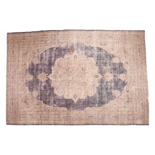 "Distressed Vintage Oushak Carpet - 9'9"" x 14'5"""