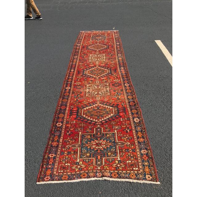 """Vintage Persian Karajeh Runner - 3'1"""" x 11'6"""" - Image 8 of 10"""