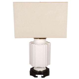 Chinese Chinoiserie Style Crackle Glazed Table Lamp