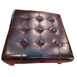 Hudson's Brown Tufted Ottoman