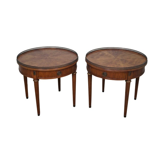 Henredon French Louis XVI Walnut Tables - A Pair - Image 1 of 10