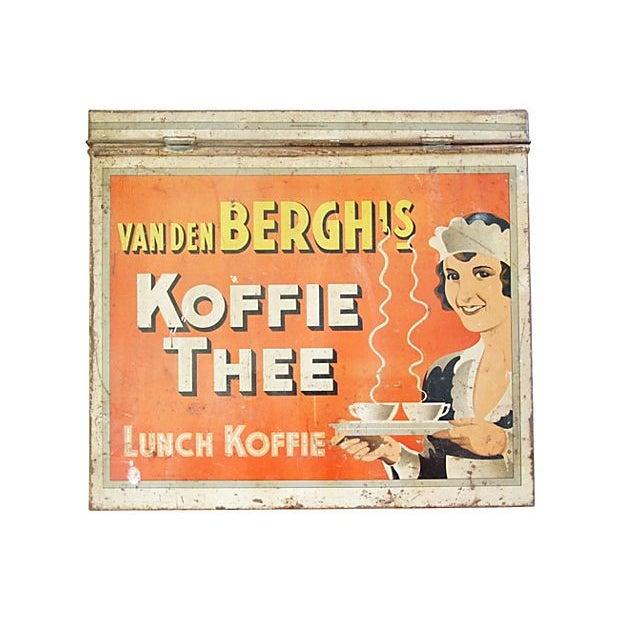 Large 1930s Van Den Berghs Koffie Coffee Tin Box - Image 7 of 7