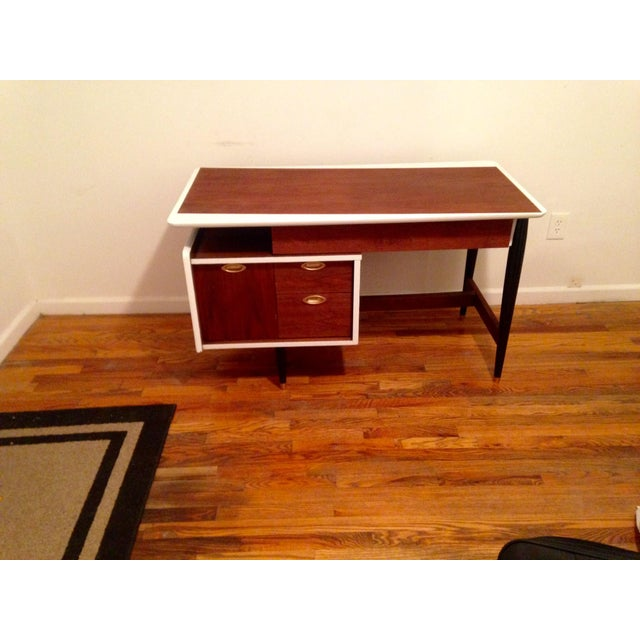 Image of Mid-Century Modern Executive Writing Desk
