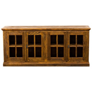 French Country Eco-Friendly Reclaimed Solid Wood Sideboard Casement