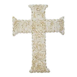 Decorative Rose Shell Wall Cross