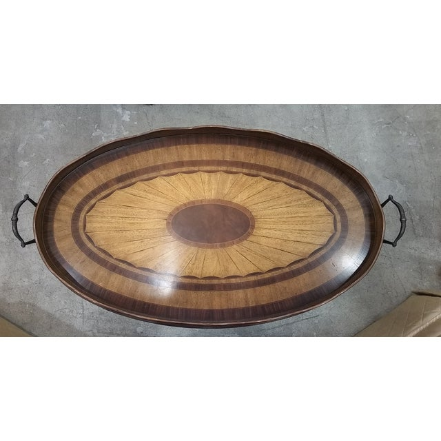 Maitland Smith Oval Tray Table - Image 4 of 8
