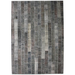 """Hand Knotted Patchwork Rug by Aara Rugs Inc. - 11'9"""" X 8'4"""""""