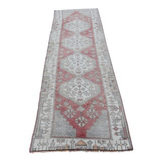 Antique Oushak Muted Multi Color Anatolian Runner - 8.5 x 2.5