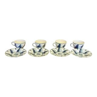 Deborah Sears Isis Oxford Coffee Cups & Saucers - Servings of 4