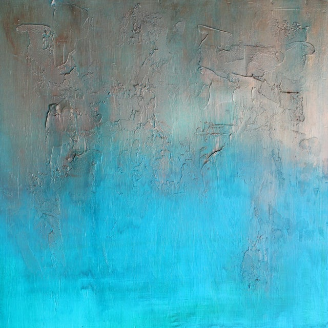 """Bronzed Earth"" Original Abstract Painting - Image 1 of 3"