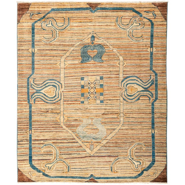 """Suzani Hand Knotted Area Rug - 5'5"""" X 6'6"""" - Image 1 of 3"""