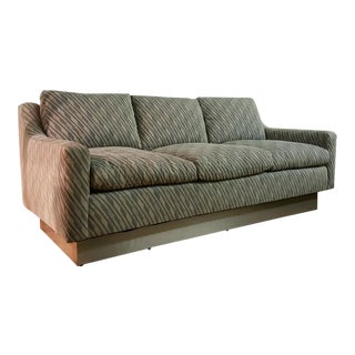 Directional Paul Evans Style Down Sofa C. 1970 Citiscape Fabric