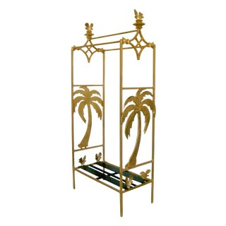 Florida Gold Towel Rack With Palms