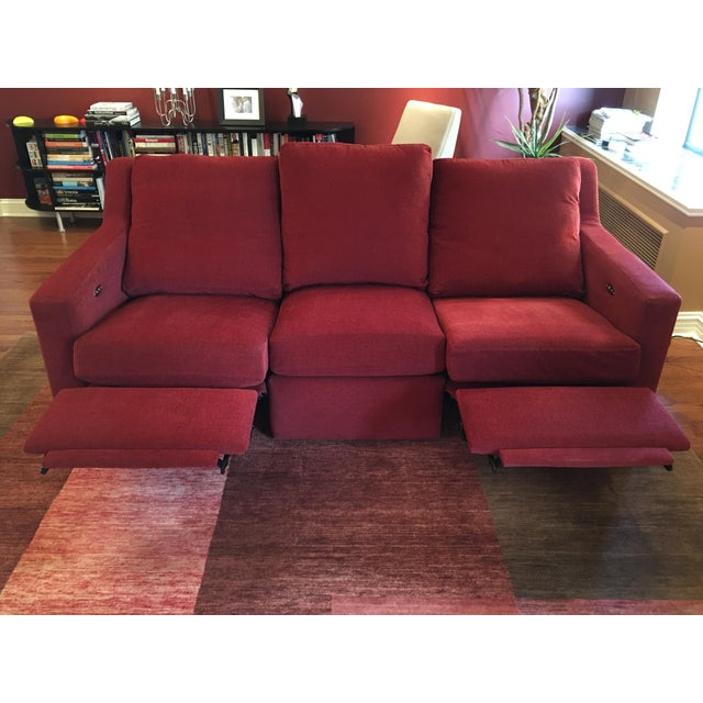Dual Reclining Pindler Fabric Sofa - Image 5 of 7
