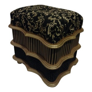 Rococo Style Ottoman Vanity Bench