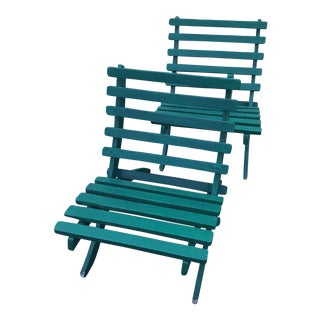 Green Garden Chairs - A Pair