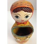 Image of Vintage Russian Babushka Wall Pocket
