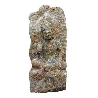 Vintage Chinese Stone Bodhisattva Statue