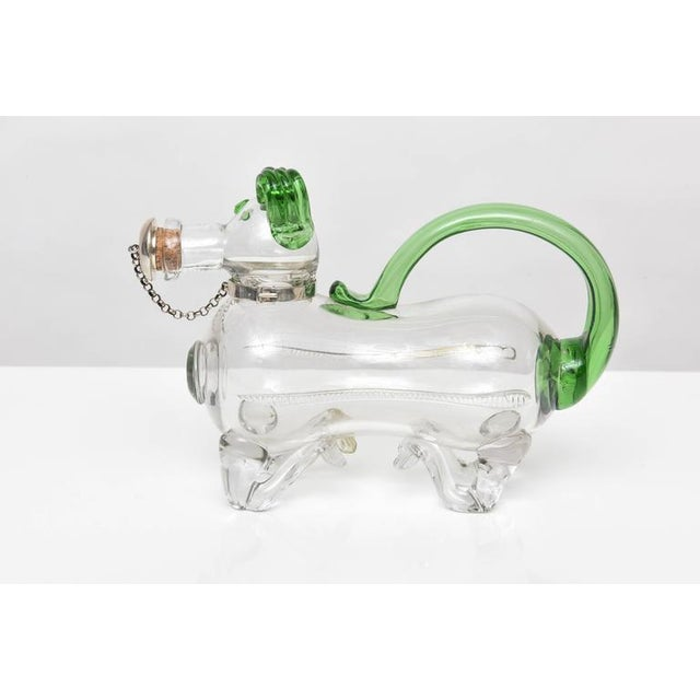 Dual Tone Glass Dog Decanter - Image 2 of 9