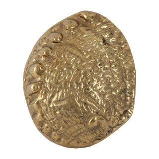 Brass Oyster Shell Paperweight