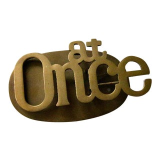 At Once Brass Desk Paper Clip