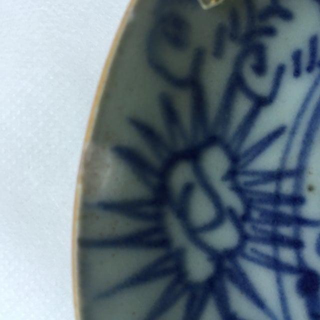 Antique Blue & White Plates, Flower Pattern - 4 - Image 11 of 11