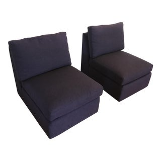 ABC Home Cobble Hill Purple Slipper Chairs- A Pair