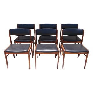Danish Mid-Century Rosewood Side Chairs - Set of 6