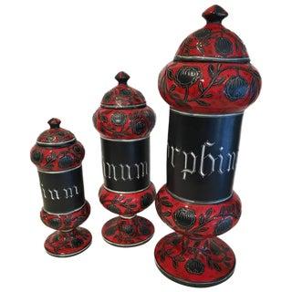 Alvino Bagni Italian Ceramic Decanters - Set of 3