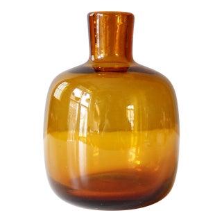Blenko Joel Myers Mid-Century Amber Vase