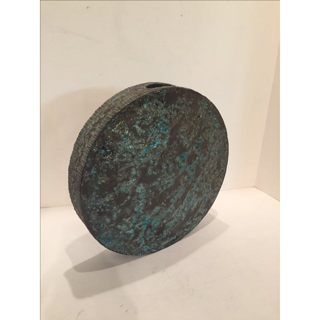 Studio Pottery Moon Sculpture Vase - Image 2 of 6
