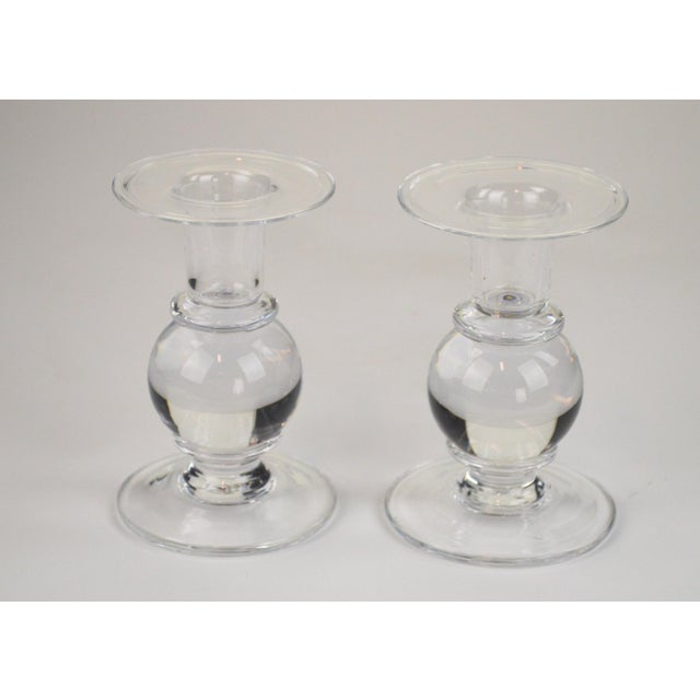 Simon Pearce Candlesticks - A Pair - Image 6 of 7