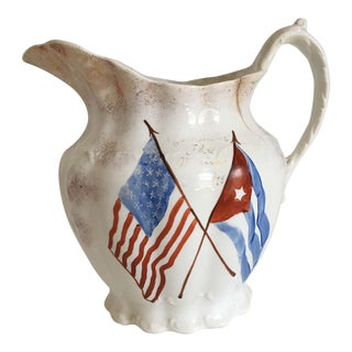 "Antique Flag ""Remember the Maine"" Pitcher"