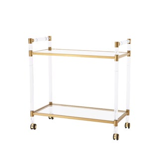 Blink Home Bar Trolley, Antique Gold