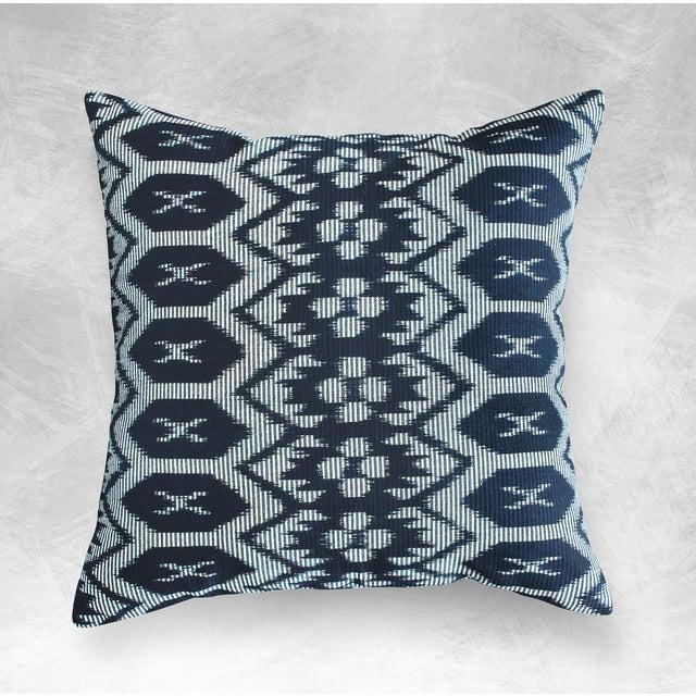 "Javanese Handwoven ""Black Ratu"" Pillow - Image 4 of 5"