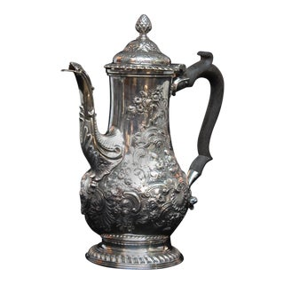 Georgian Sterling Silver Coffee Pot by Benjamin Gignac