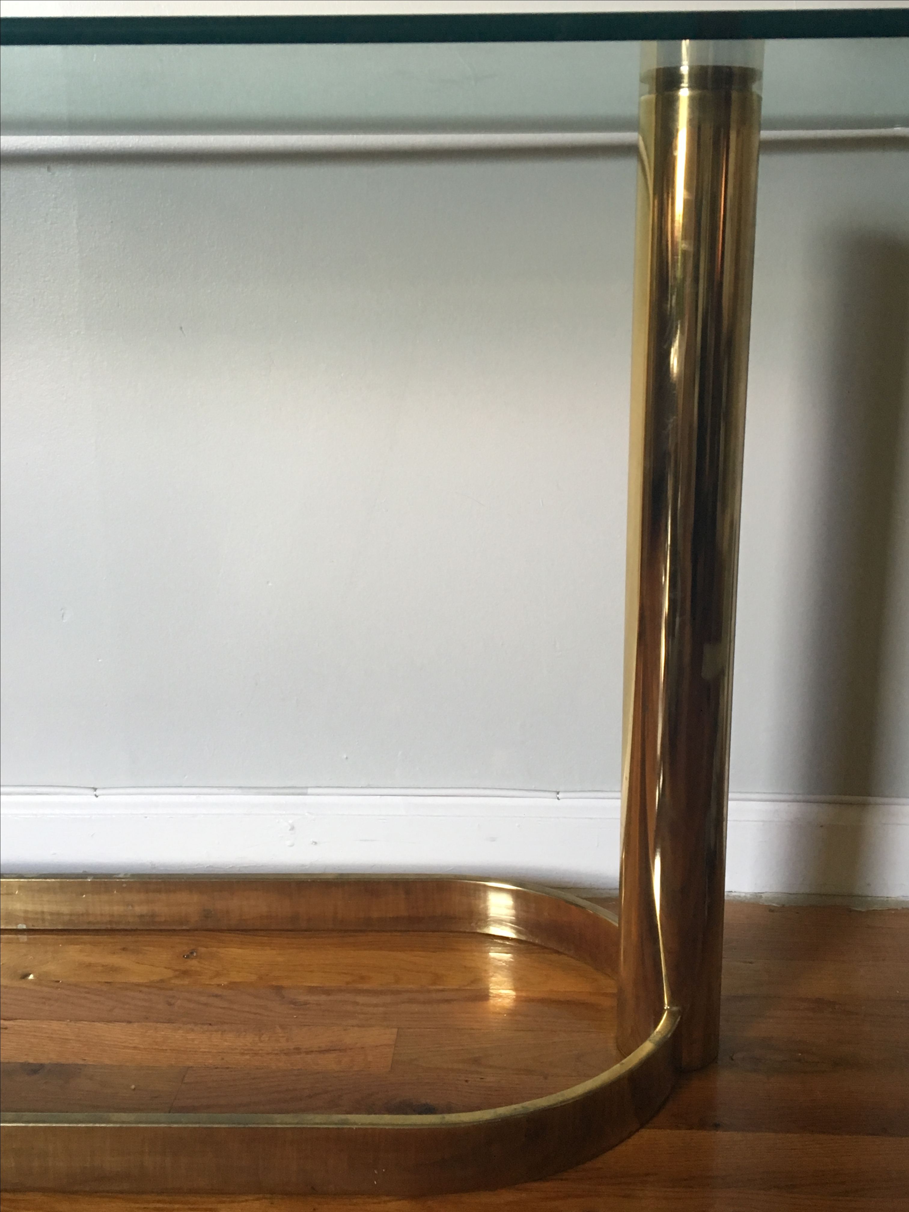 Pace Brass And Glass Console Table   Image 4 Of 6