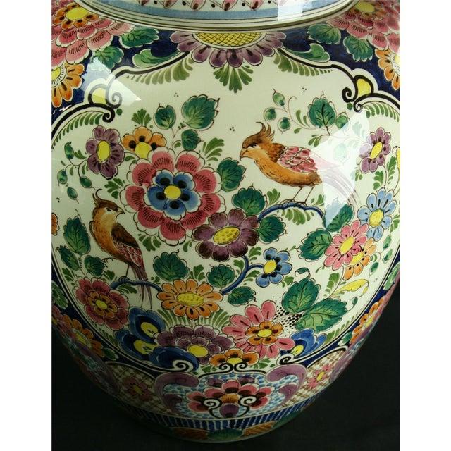 Large 1940s Vintage Majolica Ginger Jar - Image 3 of 8