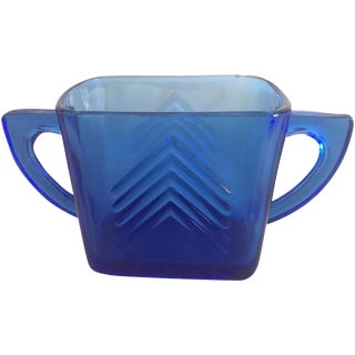 1950s Blue Glass Arrow Mug