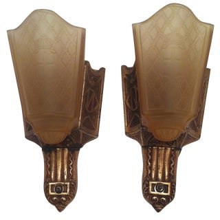 Moe Bridges Slip Shade Sconces - A Pair