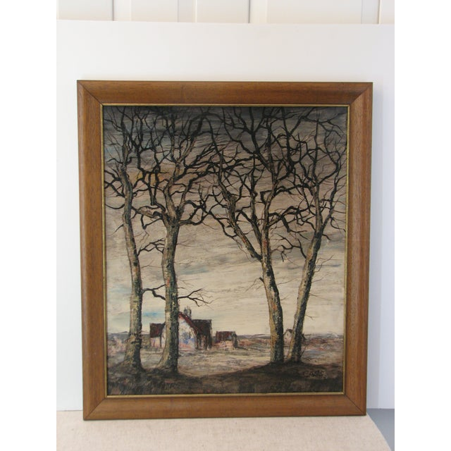 Image of Signed Oil Painting by Casis, Forced Perspective