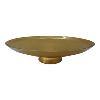 Mid-Century Modern Gorham Brass Pedestal Bowl