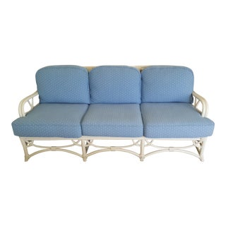 Vintage Ficks Reed Blue Sofa